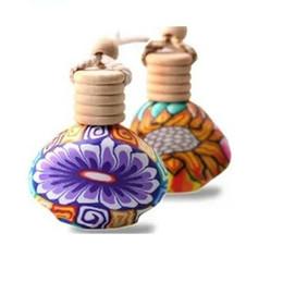 Wholesale 15ml Clay perfume bottles Car hanging perfume bottles DHL