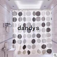 circle hooks - High Quality Bathroom Circle Design Waterproof PEVA Shower Curtain With Hook x180cm Hot sale BJ dandys