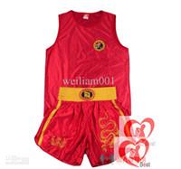 Wholesale one set Sanda training suit pants of martial arts training sanda muay Thai boxing sanda suit two colors be coosed