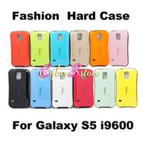 Moda galaxia S5 Caso del iface duro híbrido Impacto de la contraportada para Samsung Galaxy S i9600 5