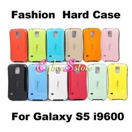 Caso de impacto galaxy s en Línea-Moda galaxia S5 Caso del iface duro híbrido Impacto de la contraportada para Samsung Galaxy S i9600 5