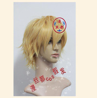 Wholesale Wonderful Blonde Shaggy layered Short Cosplay Costume Wig Heat resistance fibre Naturally real hair