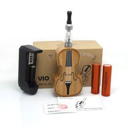 Wholesale 100 Kamry Wood Mechanical Mods E Cig Kit Vio Music Electronic Cigarette Violin Style Vaporizer Battery Vio Atomizer