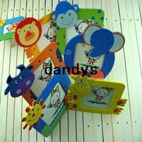 Wholesale Creative Student Prizes special wooden children s gifts new small cartoon animal picture photo frame dandys