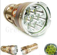 Wholesale SKYRAY King Lm xT6 CREE XML XM L T6 LED Flashlight Torch x18650 Slot Gold