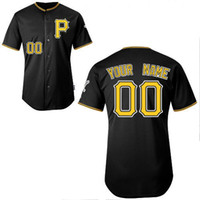 custom baseball jersey - Cheap Baseball Jerseys Custom Made Pirates Jersey Customized Embroidered Personalized Name Number Team Logo Black American Wear