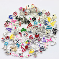 Wholesale 100pcs Designs Assorted Floating Charm For Glass Locket Origami Owl Floating Charm Pendant Jewelry Accessories Cheap Price