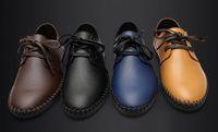 Wholesale Fashion men leather shoes men s business casual lacing shoes colors for chose