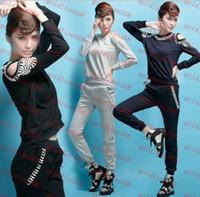 Women Short Sleeve Regular New Arrival Fashion springtime fashion Womens Sport suits women long sleeve Tracksuit sport Casual clothes sportswear set thin top + pants