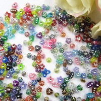 Wholesale 10Models Mixed beads Transparent Assorted Acrylic Beads Rose Butterfly Star Flower Heart Dot Loose Beads for Jewelry Making g