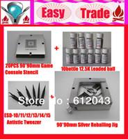 Wholesale mm XBOX PS3 Wii PSP Reballing Stencil mm Silver Reballing Jig bottles K Leaded Solder Ball