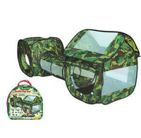 Tents Animes & Cartoons Cloth free shipping tunnel crawl ,camouflage color, army game,soft play outdoor tents for kids, baby crawling tube game children tent,