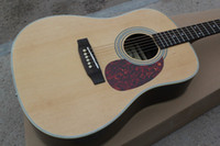 Wholesale Natural color D28 Dreadnought Acoustic guitar Spruce Chinese guitar OEM Musical instruments