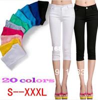 Women jeans xxxl - S XXXL Plus Size Colors New Summer Women s Denim Skinny Jeans Women Overalls Elastic Pencil s Free Drop Shipping KZ