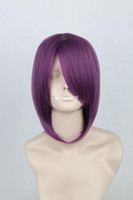 Wholesale cm Lux purple cheap short straight anime cosplay costume wig cos hair murasakibara atsushi