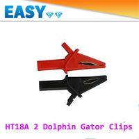 achat en gros de oscilloscope-2PCS Oscilloscope Accessoires Clips Grand Dolphin Gator Clips HT18A pour Hantek DSO3064 automobile diagnostic, Livraison gratuite