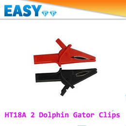 Wholesale 2PCS Oscilloscope Accessories Clips Large Dolphin Gator Clips HT18A for Hantek DSO3064 Automotive Diagnostic Freeshipping