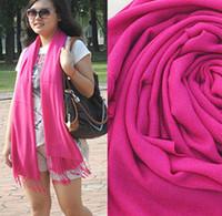Wholesale Hot style Fashion Women s cashmere like Pashmina Tassel Scarf Wrap Shawl scarves