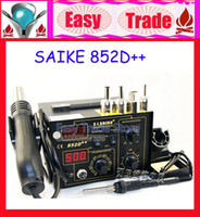 Electricity 220V 5KG Free Shipping Saike 852D++ Upgrade from Saike 852D+ 2in1 Hot Air Gun & Desoldering Station 220V 110V
