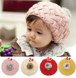 Children Caps Baby Apple Berets Wool Hats For Girl MZ0195 Pink Red Beige Yellow