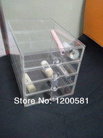 Wholesale Clear Acrylic Cosmetic Organizer Drawers Makup Storage Box mm