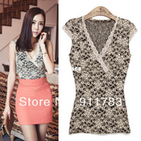 Cotton Women Animal S-XL New Arrival 2014 Spring and Summer Women's Clothing Sexy Lace Basic Shirt Spaghetti Strap Top Chiffon Vest 3 Color DDS-030
