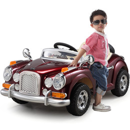 Wholesale Berry Best Children s electric car stroller remote dual drive four wheel electric car can sit toy car painting classic cars