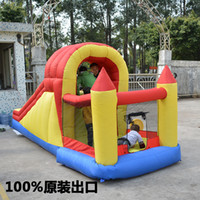 Wholesale Child inflatable jumping bed chiban trampoline slide trampoline