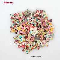 Quilt Accessories Buttons Yes (Mixed molds, min.$10.0) wholesale(200pcs lot) wood button with star shape 24mm-GJ1025