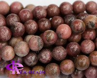 Wholesale Discount Natural Genuine Rose Stone Pink Rhodonite Round Loose Stone Beads mm Jewelry DIY Necklaces or Bracelets quot
