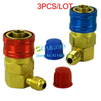 Wholesale 3PCS AC R134a QC15 Quick Connector Adapter Coupler Car Auto Air Conditioning Adapter Connector TK1032