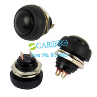 Push Button Switches TK0304#  10Pcs Lot Black Momentary OFF (ON) Push Button Horn Switch Retail & Wholesale Free Shipping TK0304