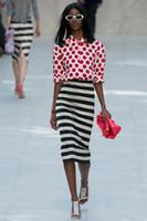Women ladies skirt suits - Fashion red dot print women set dress long sleeve OL office ladies Skirt Suits T4073