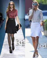 Wholesale Hot sale Fashion Polka Dot women elegant OL office ladies dresses with belt Skirt Suits