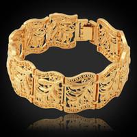 Wholesale U7 Vintage Bracelet Bangle Plant Pattern New Trendy Platinum K Real Gold Plated Women Men Jewelry CM MM Chunky Bracelet