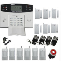Wholesale Wireless Home GSM SMS Security Burglar Alarm System LCD Screen DIY Kits