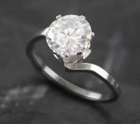 Solitaire Ring Asian & East Indian Women's Free shipping 20 pcs lot Fashion Jewelry Stainless steel with Cubic Zircona CZ ring Women rings Party Dress crystal ring