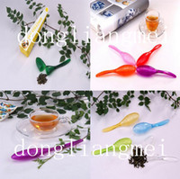 Wholesale 200pc Kithchen Tea Spoon Strainer Filter Colander Teaspoon Infuser Steeper Tadpole O M
