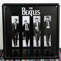 Wholesale 20 cm The Beatles Rock Band Metal Painting Wall Bar Pub Poster Tin Sign Decorative Plaques