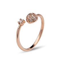 Wholesale GNJ0501 Fashion Korean Star model Jewelry sterling silver rose gold plated Ring quot You comes from the star quot type Wedding Ring