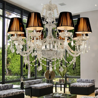 110 220V Modern LED Crystal Chandelier Pendant light stair h...