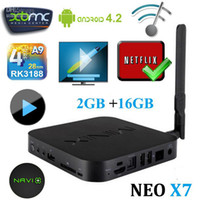 Wholesale New MINIX NEO X7 Android Smart TV Box RK3188 Quad Core XBMC Media Player GB DDR3 RAM GB Mini PC GHz P free DHL shipping