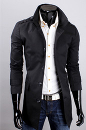 Wholesale 4 colours to choose Fashion men dust coat men business trench coat men s coat