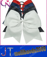 Hairbands cheer bow holder - Handmade quot Jumbo Cheer Bow Larger Hair Bow For Cheerleader Girls Ponytail Holder MYY565
