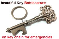 Wholesale 1000pcs Fedex Novelty Mini Suck KeyChain Key Chain Beer BottleOPENER Bottle Opener Coca Can Opening tool wth Key Ring