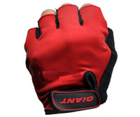 Wholesale GIANT Cycling Riding Racing Mountain Bike Adult Half Finger Biker Gloves Motorcycle Gloves Sport Gloves Black Red Blue W1019