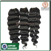 Brazilian Hair Deep Wave Brazilian Hair Brazilian Virgin Hair Deep Wave 3 4 5pcs lot Shangkai Hair human hair extensions,cheap Grade 5A brazilian virgin hair weaves bundles