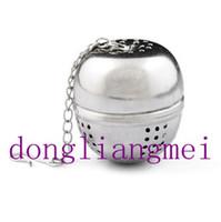 Wholesale 20pc Stainless Steel Teakettles Infuser Tea Strainer Egg Shaped Tea Locking Spice Ball O R