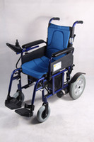 Wholesale TOPMEDI Genuine Blue Folding Electric Power Wheelchair High performance price ratio
