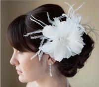 Hair Jewelry Feather Rhinestone Wholesale new bride headdress flower Studio photo hair wedding tiara Performance modelling feather clip hair accessories